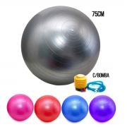 Bola Pilates Yoga Fitness 75cm C/ Bomba Abdominal Ginastica