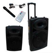 Caixa Som Amplificada Alça Bivolt Bluetooth Microfone Rádio