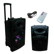 Caixa Som Amplificada Alça Bivolt Bluetooth Rádio