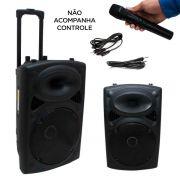 Caixa Som Amplificada Bivolt Bluetooth Microfone Sem Controle