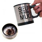 Caneca Elétrica Shake Inox 350ml Mixer Misturador Café Chá