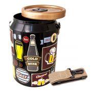 Cooler Termico 24 Latas Vintage Preto