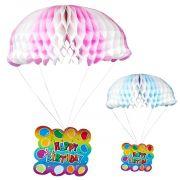 Enfeite Paraquedas Papel Decoração Criança Bebê Infantil 37cm cod1,42