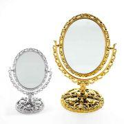Espelho De Mesa Maquiagem Dupla Face Aumento Bancada 20cm