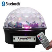Globo Bola Maluca Led Magic Cristal Rgb Festas Mp3 Avaria
