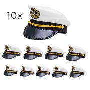 b581adb5fb21c Kit 10 Chapéu Marinheiro Quepe Boina Capitão Fantasia Festa
