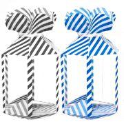 Kit 12 Enfeites Meia Bala Embalagem Listrada Decoração Festa