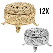 Kit 12 Mini Porta Jóias Dourados Lembrancinhas Decoração