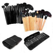 Kit 24 Pincéis Profissional Pincel Maquiagem Blush C/ Estojo AVARIA