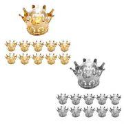 Kit Com 12 Coroas Douradas Lembrancinha Cúpula Decoração