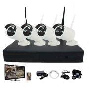 Kit Nvr 4 Câmeras Infravermelho Wi-fi Hd 960p P2p Rgb Sem Fio