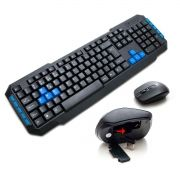 Kit Teclado Mouse Sem Fio 1000dpi Wireless Gamer 2.4ghz