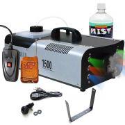Máquina Fumaça 1500w Iluminação Rgb Controle Sem Fio Festa