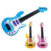 Mini Guitarra Infantil Brinquedo Emite 3 Sons Pilhas Criança