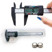 Paquímetro Digital 150mm 0,1mm Profissional C/ Estojo