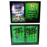 Quadro Duplo Bolão Apostas 25x35 Futebol Copa Decoração
