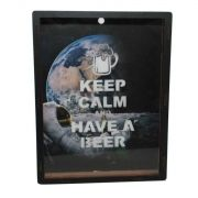 Quadro Porta Tampinhas Cerveja Keep Calm 28x22cm Decoração