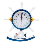 Relógio De Mesa Leme Timão Marinha Marinheiro Decoração