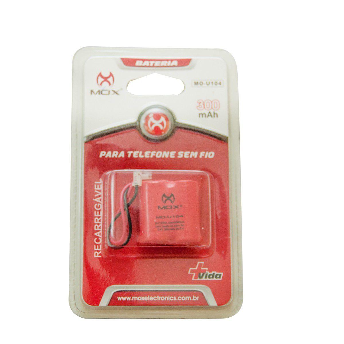 Bateria Telefone Sem Fio Mox Mo-U104 300 Mah Plug Universal