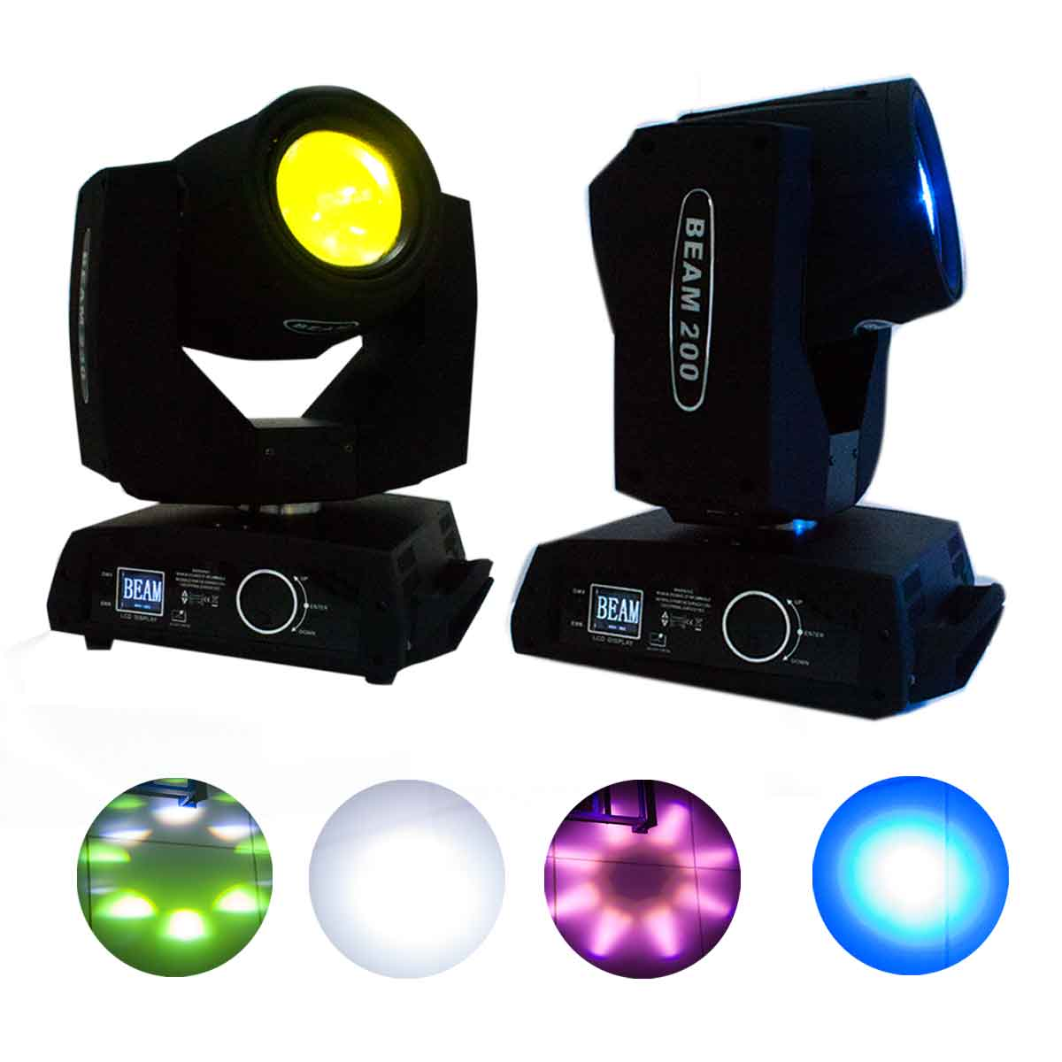 2x Moving Head Beam 200w Bivolt Dmx 5r Spot Led Festa Balada