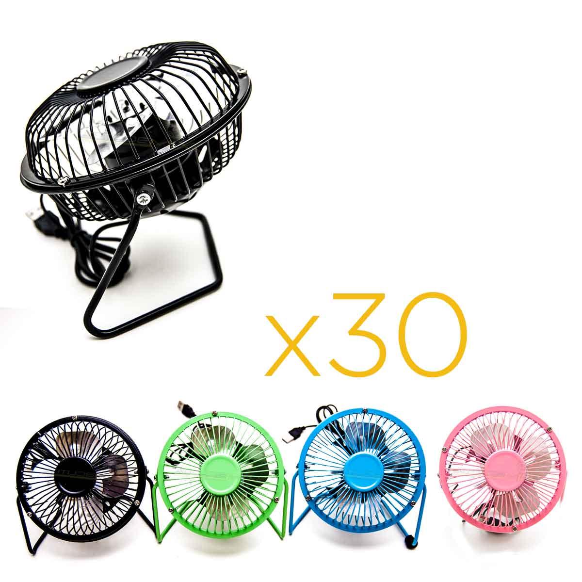 Kit 30 Mini Ventiladores Usb De Mesa Portátil Silencioso