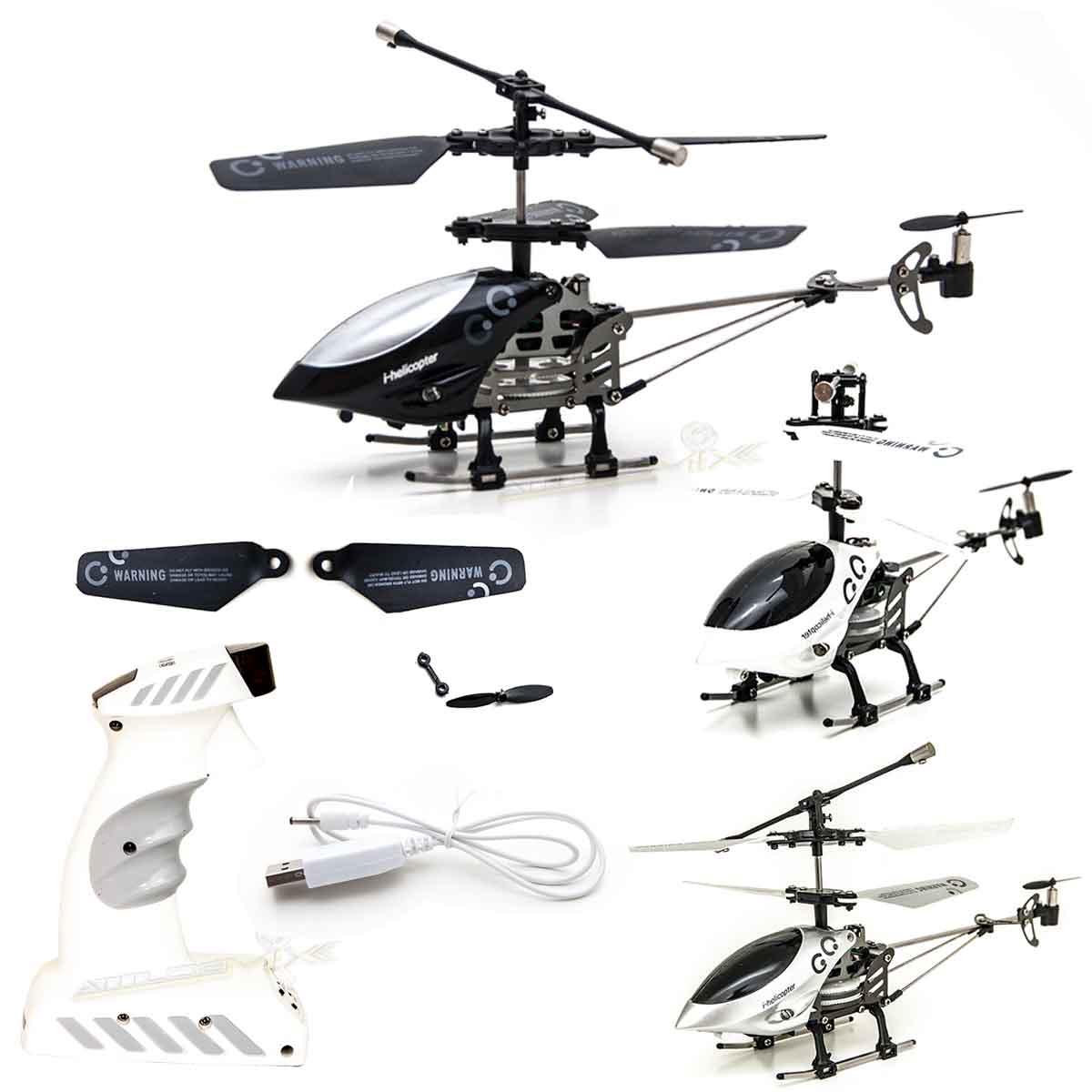 Helicóptero 3 Canais de Controle Remoto 10 Metros de Alcance