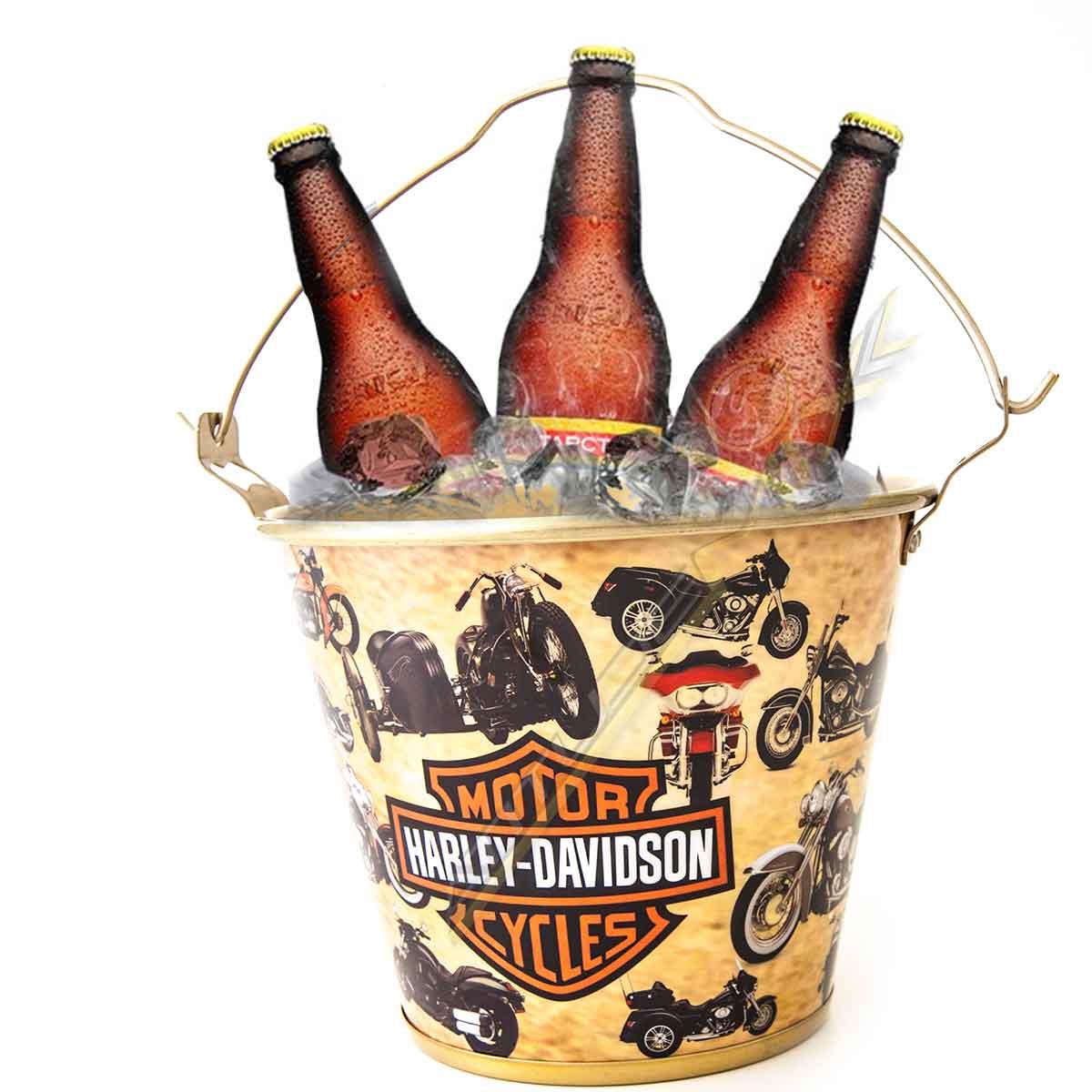 Balde Gelo Personalizado  Harley Davidson Alumínio