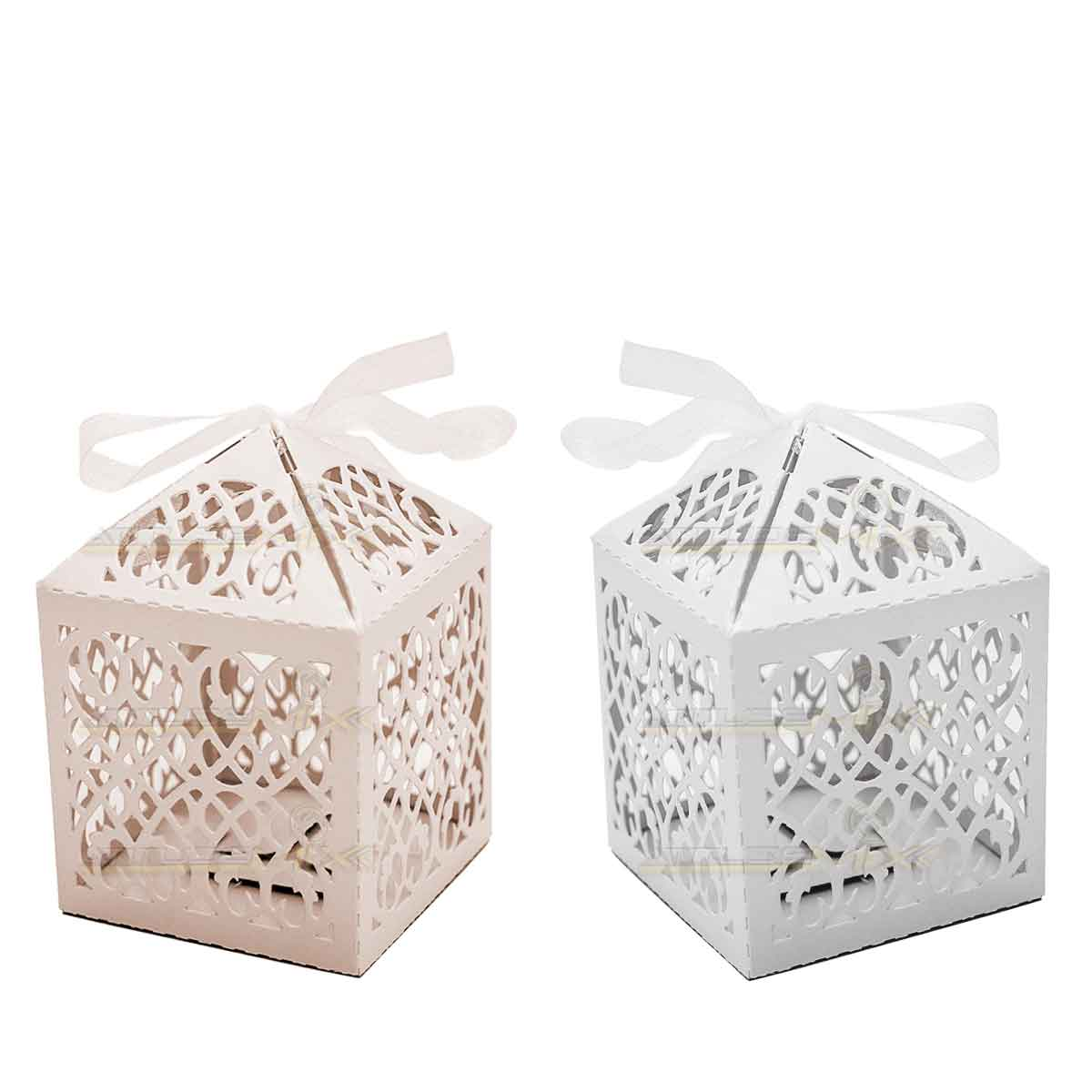 Kit 12 Caixinhas De Papel para Doce De Casamento Lanterna