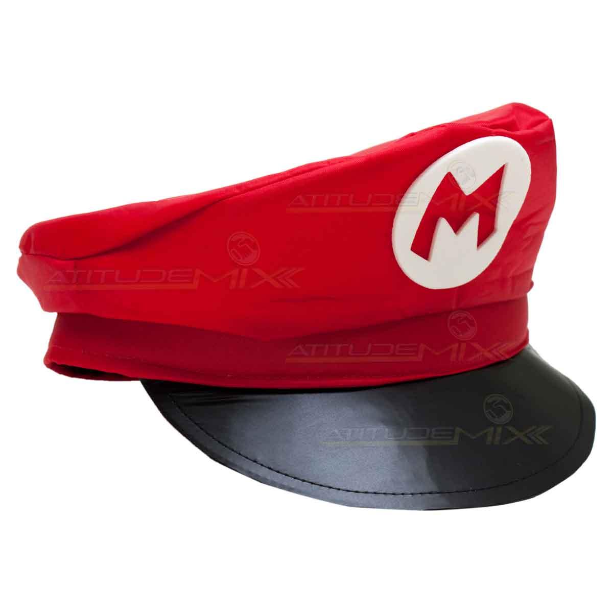 7effdd0156522 Quepe Chapéu Boina Super Mario Bros Cosplay Fantasia - AtitudeMix