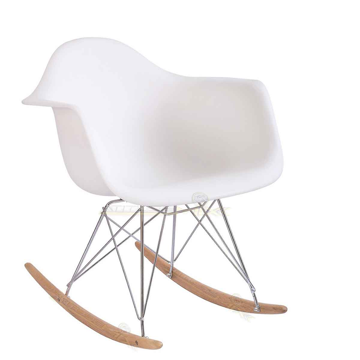Cadeira Poltrona De Balanço Charles Eames Design Branca Daw