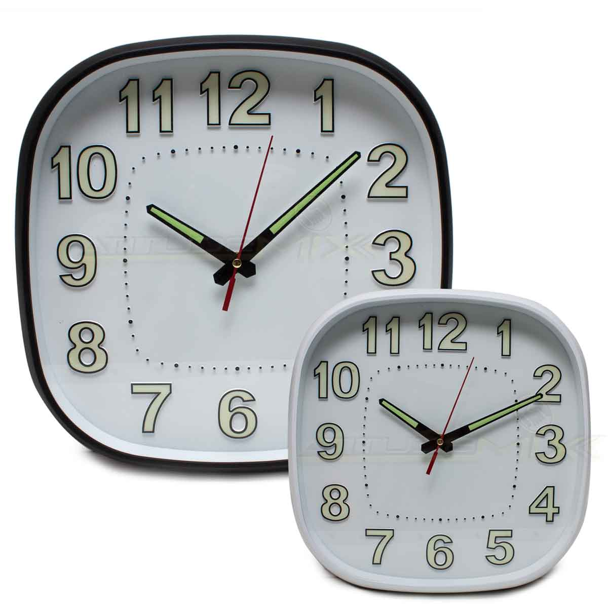 Relógio De Parede Grande 30cm Fluorescente Sala Quarto