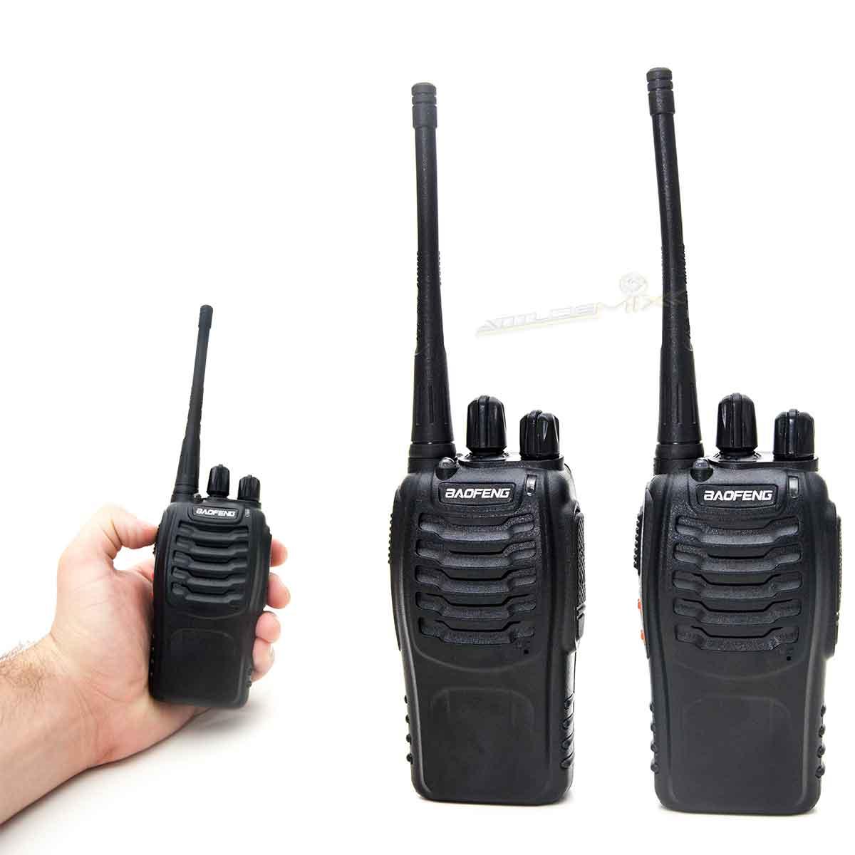 Kit 2 Rádio Comunicador Walk Talk Baofeng Bf-888s 16 Canais
