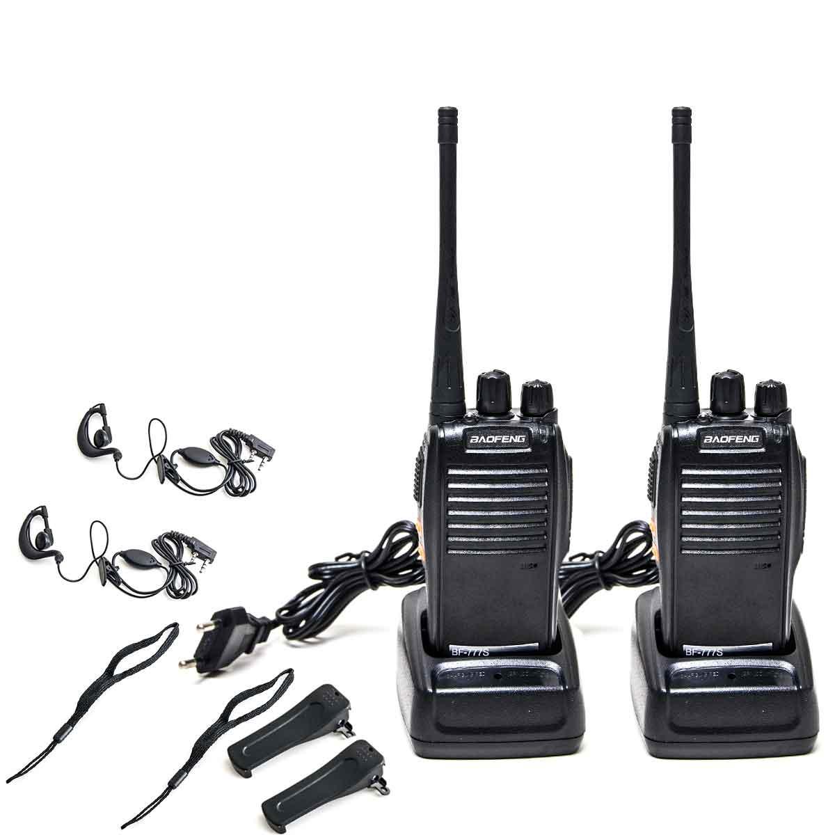 Kit 2 Rádio Comunicador Walk Talk Baofeng Bf-777s 16 Canais