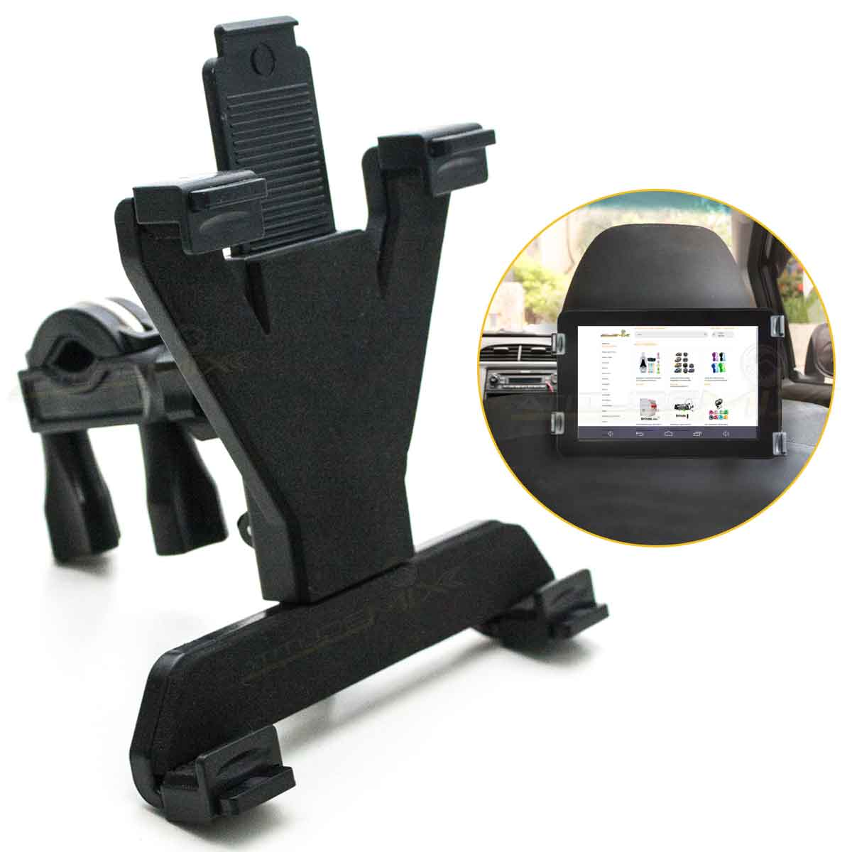 Suporte Tablet Pedestal Microfone Encosto Cabeça Carro Ipad