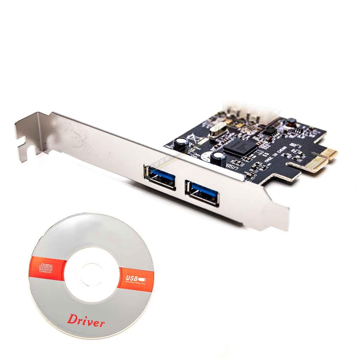 Placa Usb 3.0 Com 2 Portas PCI Express