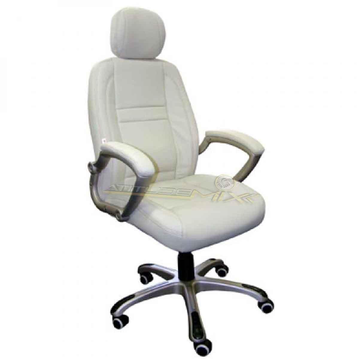 Cadeira Escritório Presidente Alta Reclinável Couro 5046