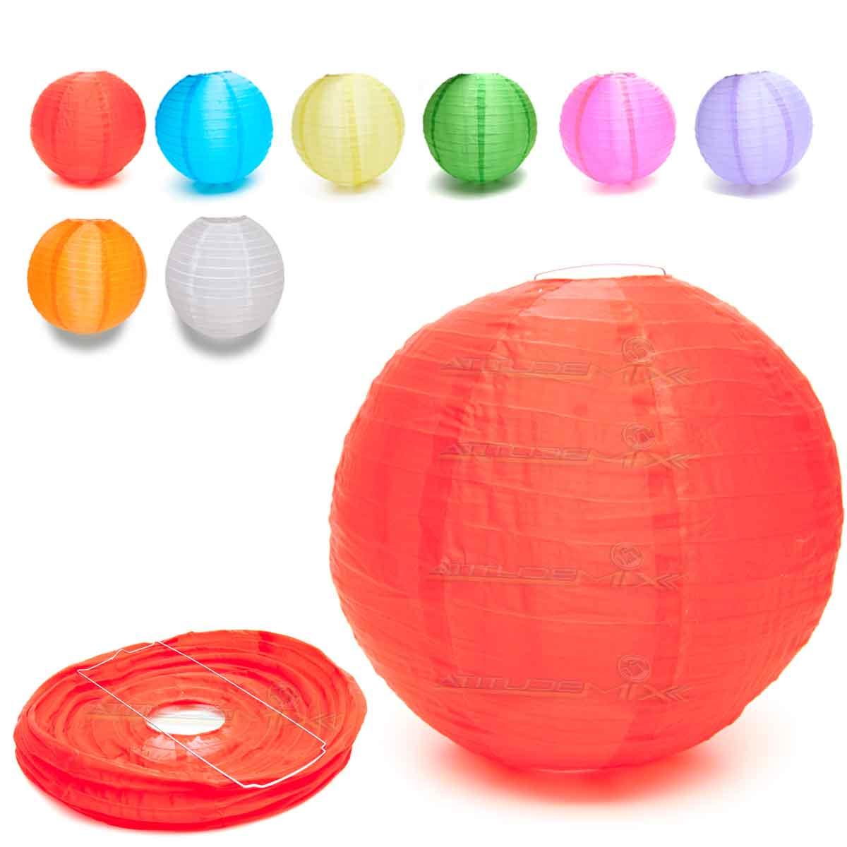 Luminária Japonesa Chinesa Oriental Tecido Nylon Colorido