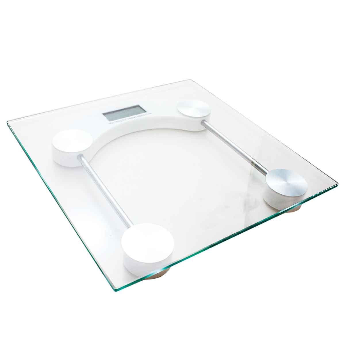 Balança Digital Quadrada Vidro Temperado Academia Banheiros