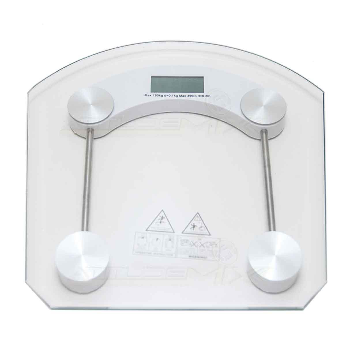 Balança Digital Vidro Temperado Academias Banheiros 180kg