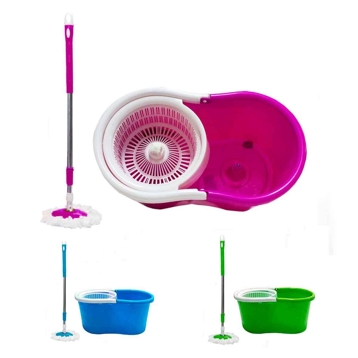 Balde Spin Mop Com Esfregão Microfibra Refil Gratis