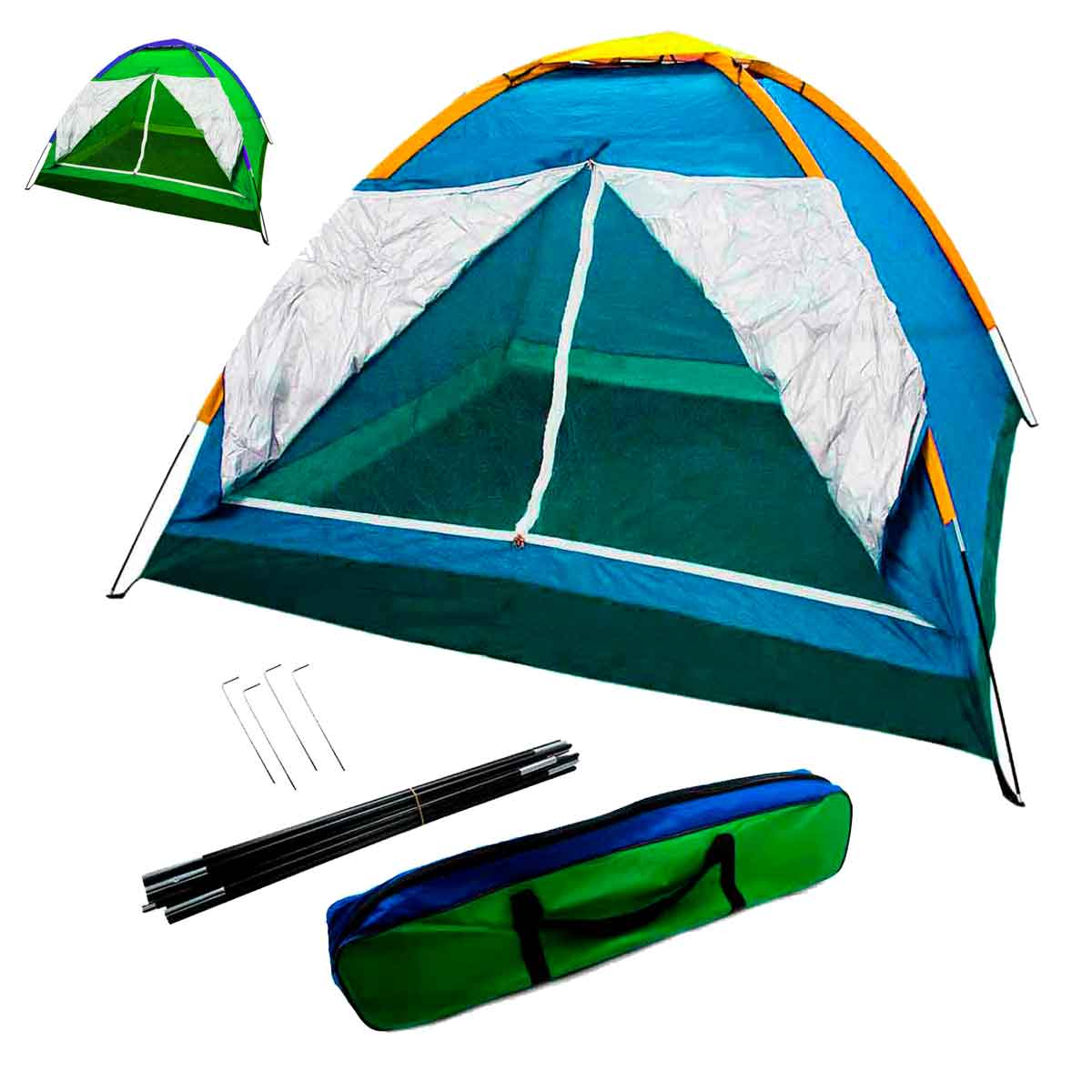 Barraca Camping 2 a 3 Pessoas Iglu Tenda Acampamento Bolsa