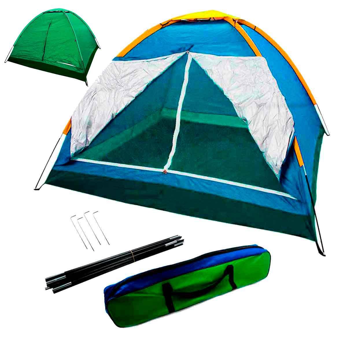 Barraca Camping 4 Pessoas Iglu Tenda Acampamento Bolsa