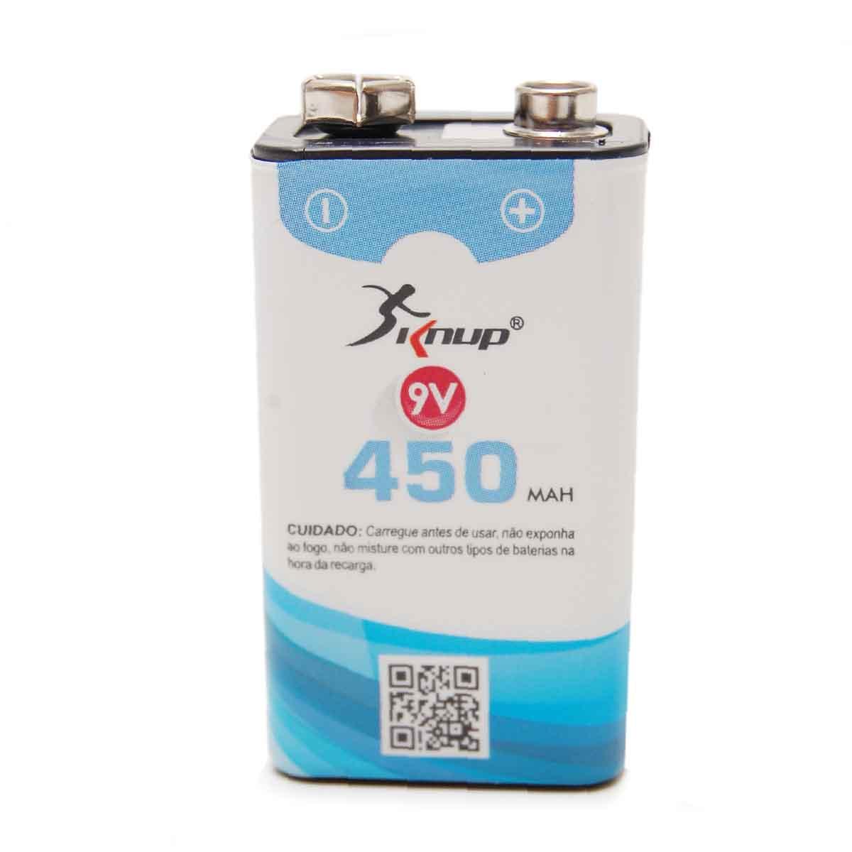 Bateria Recarregável 9v 450mah Knup Original