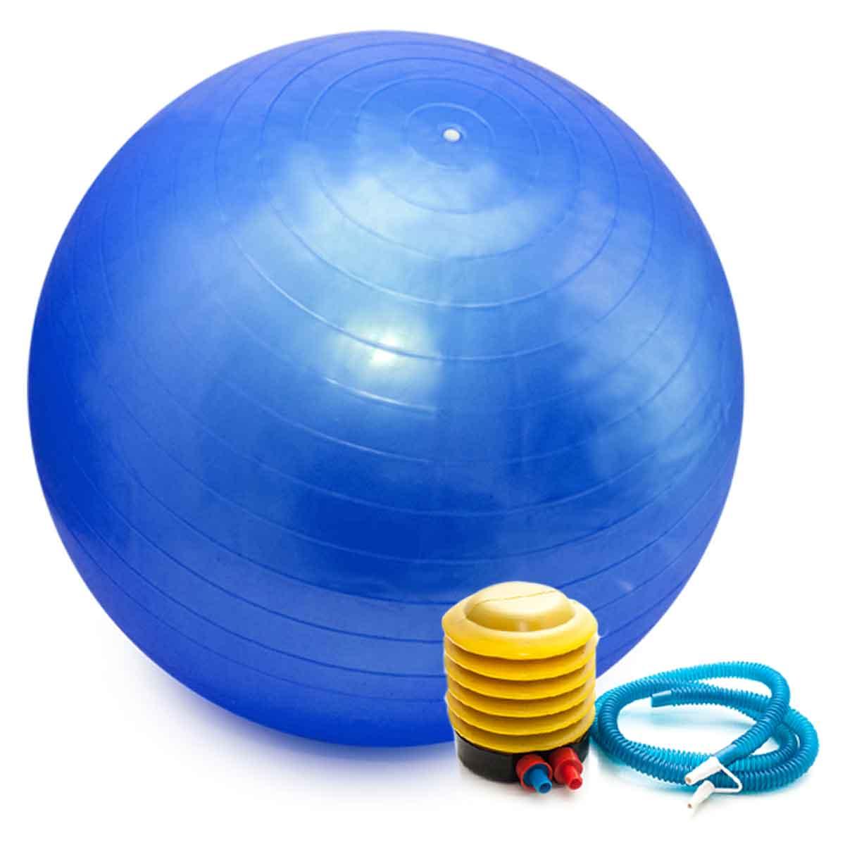 Bola Pilates Yoga Abdominal Ginastica Fitness 65cm C/ Bomba