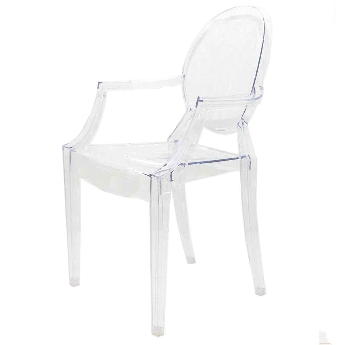 Cadeira Acrílica Louis Transparente Cristal