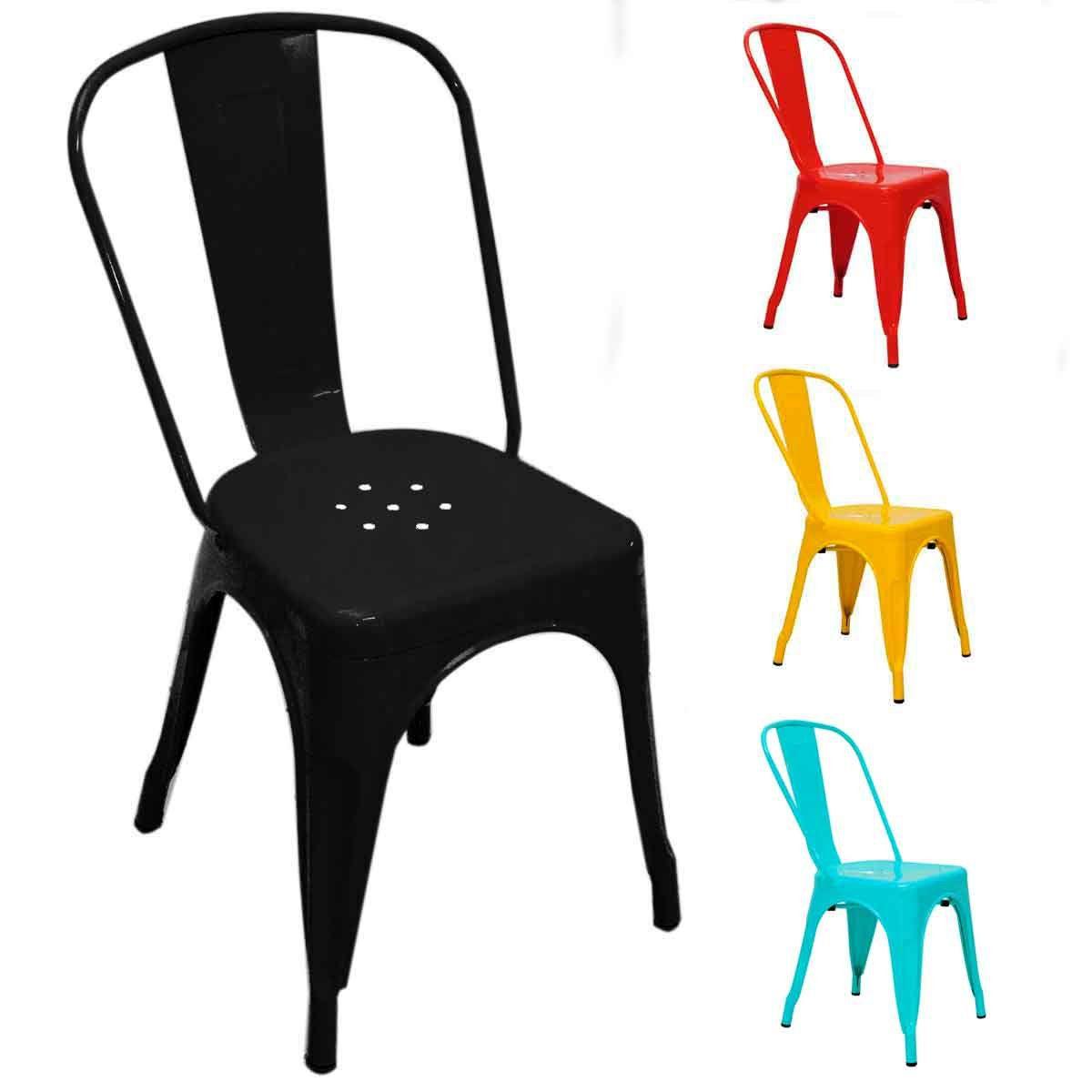 Cadeira Tolix Iron Design 84cm Cozinha Jantar Bar Cores