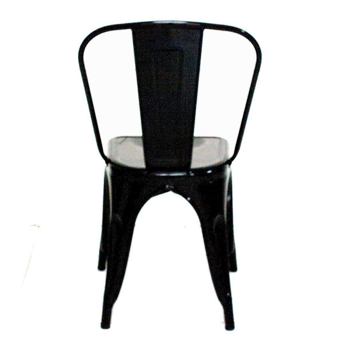 Cadeira Tolix Iron Design 84cm Cozinha Jantar Pequena Avaria