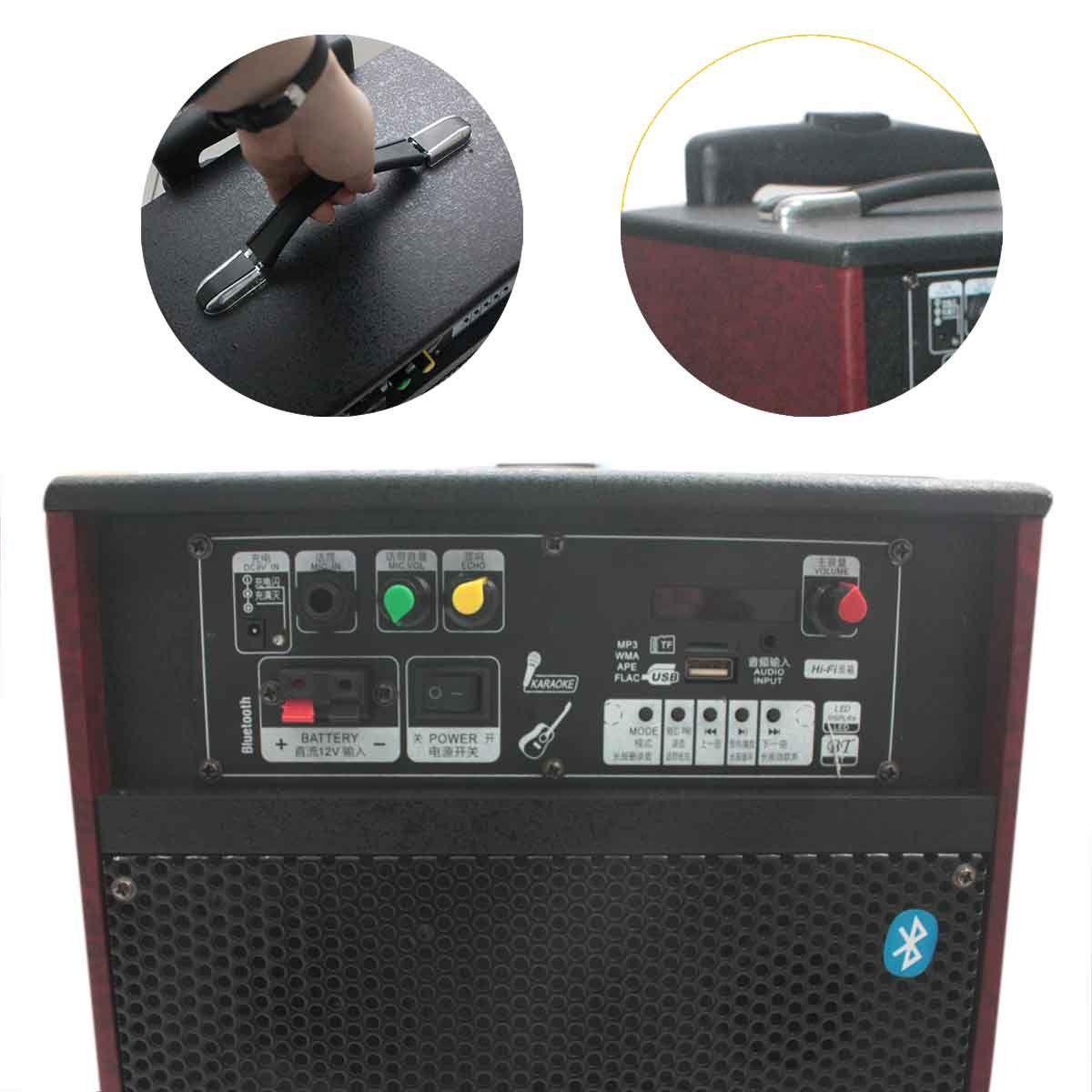 Caixa De Som Bluetooth Amplificada Portátil Rádio Usb Mp3