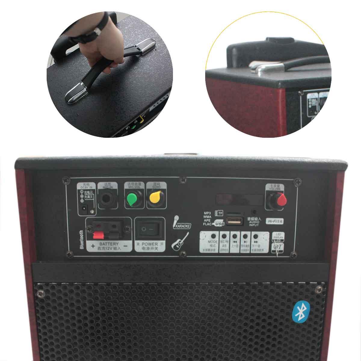 Caixa Som Portátil Amplificada Bluetooth Portátil Rádio Usb