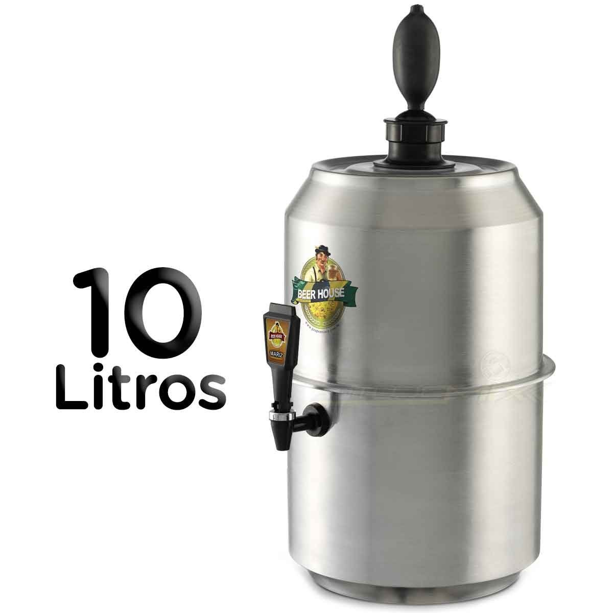 Chopeira King Beer Chopp Cerveja Grande 10 Litros 28 Latas